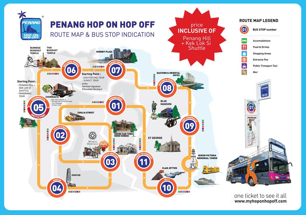 PENANG Hop-On Hop-Off Official Website on las vegas monorail stops map, atm map, metropolitan map, multi-stop map, subway stop map,